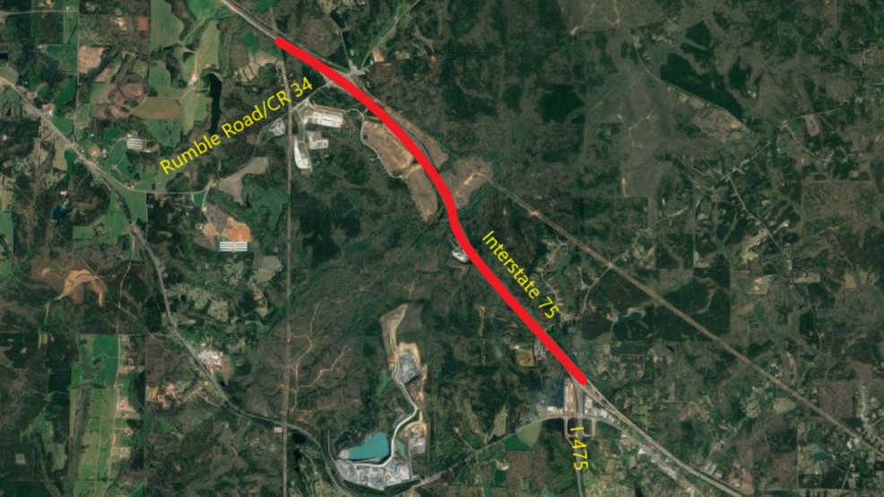 Map Of Georgia 75.Traffic Alert Overnight Lane Closures On I 75 For Repairs In Monroe