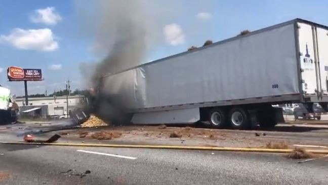 Sheriff: 4 killed in Georgia wreck, fire on Interstate 75 | WGXA